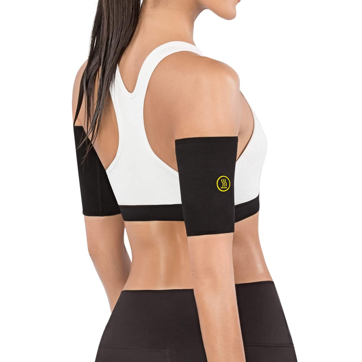 cd7670ba42 Amazon.com : Hot Shapers Hot Arms Sleeves - Seamless Arm Trimmers with  Phone Pocket for Running : Sports & Outdoors