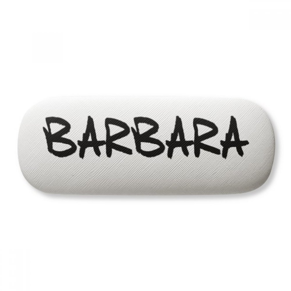 Special Handwriting English Name BARBARA Glasses Case Eyeglasses Clam Shell Holder Storage Box