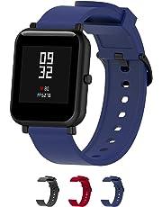 Cinturini per orologi in silicone-Cinturino a sgancio rapido-Cinturini in silicone morbido a sgancio rapido Cinturino di ricambio in pelle-La larghezza è di 20 mm-3 colori(Black,Red,Blue)