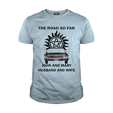 fc738a57 The Road So Far John and Mary Husband and Wife T-Shirt | Amazon.com