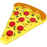 BLEWINDZ Giant Inflable Pizza Slice Pool Float Floatie with Cup Holders, XL Outdoor Water Fun Pool Floaties Party Decorations