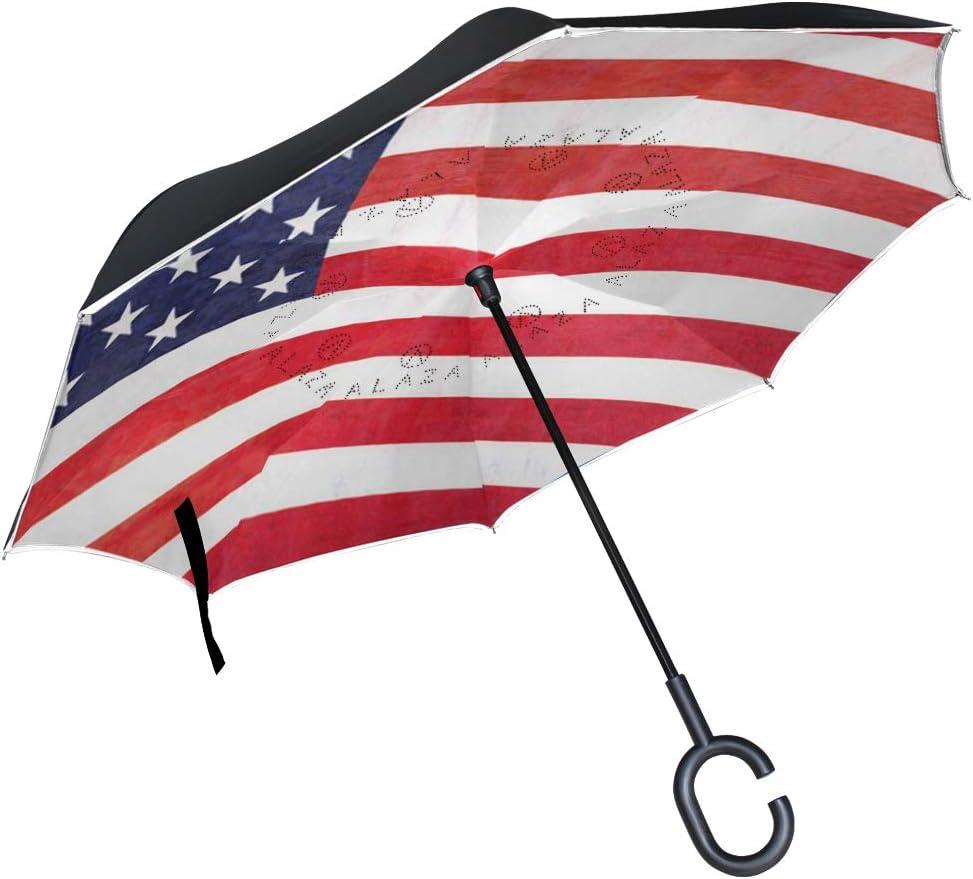 DEZIRO: Paraguas Plegable de Doble Capa invertido con diseño de ...