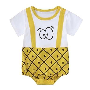 QinMM Mono Estampado Ojo Lindo para Niño bebé y Niña, Body ...