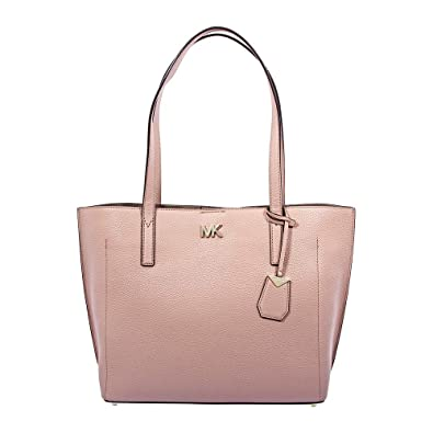 Amazon.com  Michael Kors Ana Pebbled Leather Tote - Fawn  Shoes 70b0ac61bc93f