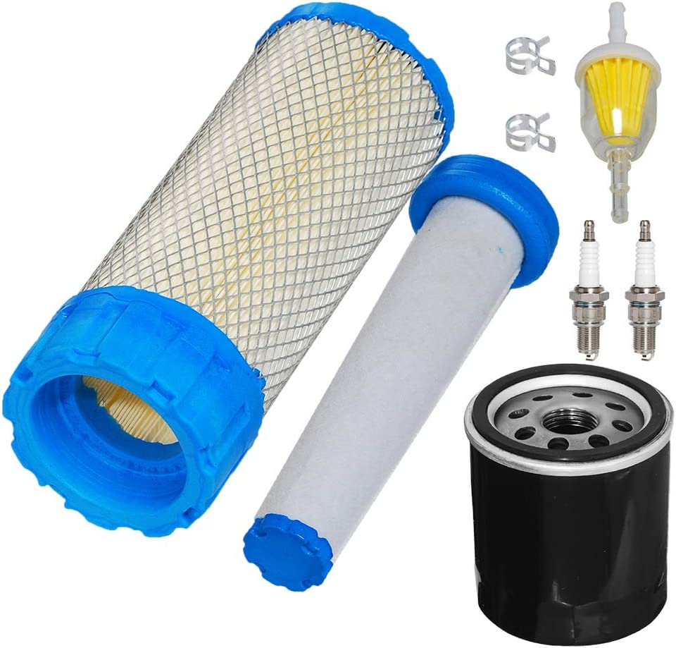 Inner Filter HIFROM Air Filter Combo 11013-7038 Fuel Filter Spark Plug Tune Up Kit for Kawasaki FX751V FX801V FX850V FX921V FX1000V 11013-7039 Outer Filter