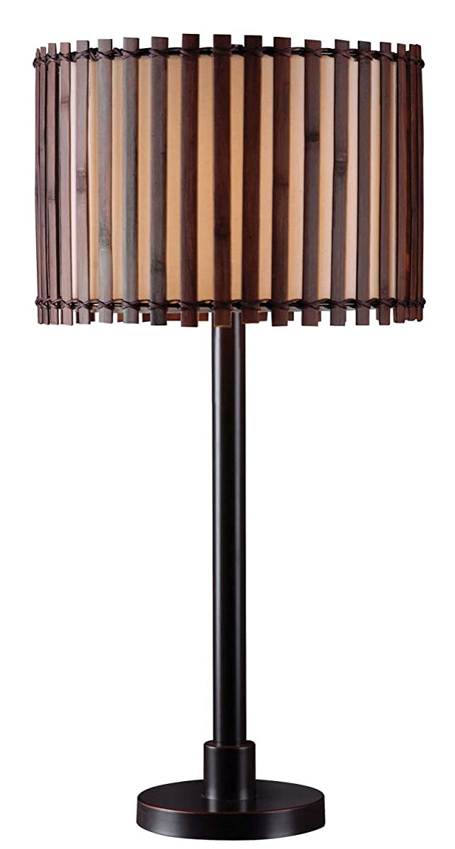 Kenroy Home 32279BRZ Grove Outdoor Lamp, Table, Oil Rubbed Bronze with Highlights