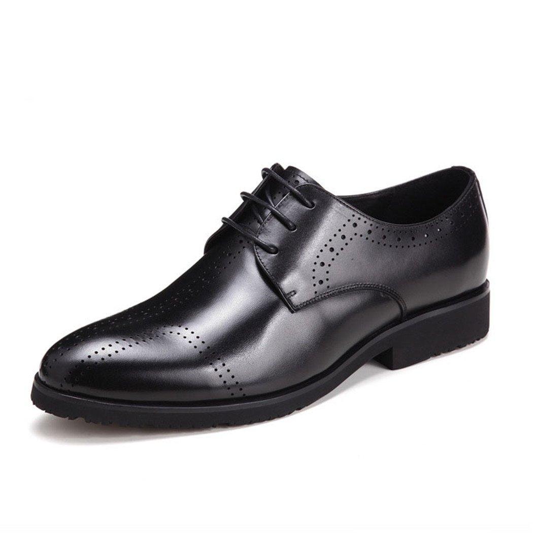 HHY-Los hombres zapatos de cuero otoño encaje zapatos de ocio,negro,39 39|black black