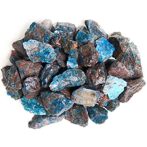"Digging Dolls: 1 lb Apatite Rough Rocks from Madagascar - Large 1""+ Raw Natural Stones for Arts, Crafts, Tumbling, Cabbing, Polishing, Wire Wrapping, Wicca and Reiki Crystal Healing"