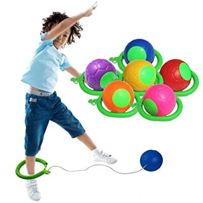 CHERRYSONG Skip Ball, Ankle Swing Ball - Improve Coordination, Get Exercise The Fun Way - Playground Ball Best Retro Birthday Gift for Kids: Home & Kitchen