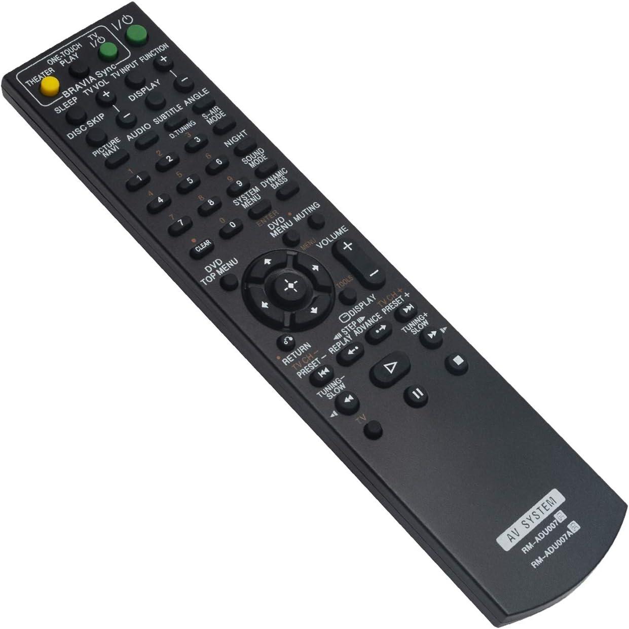RM-ADU007 RM-ADU007A Replace Remote Control fit for Sony DVD Player Home Theater System DAV-HDX275 DAV-HDX276 DAV-HDX277WC DAV-HDX279W DAV-HDX285 DAV-HDX287WC DAV-HDX475 DAV-HDX576WF DAV-HDX585