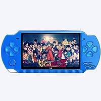 DZTIZI Retro Classic X6 handhållen videospelskonsol inbyggda 1000 spel 10,9 cm Lcd, lämplig för barn, vuxna, blå