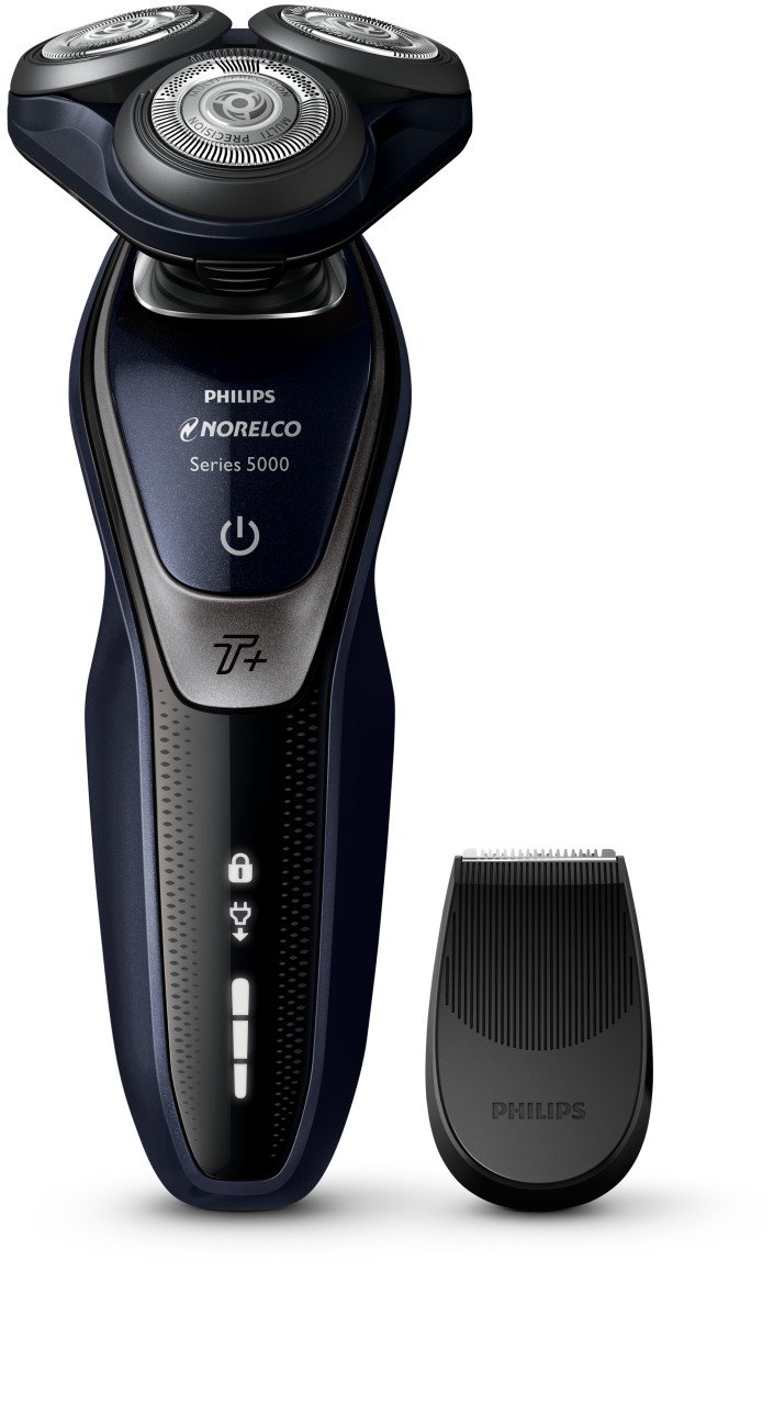 Philips Norelco Shaver 5550 with Turbo+ Mode, Rechargeable Wet/Dry Electric Shaver with Precision Trimmer Attachment, S5590/81 by Philips Norelco