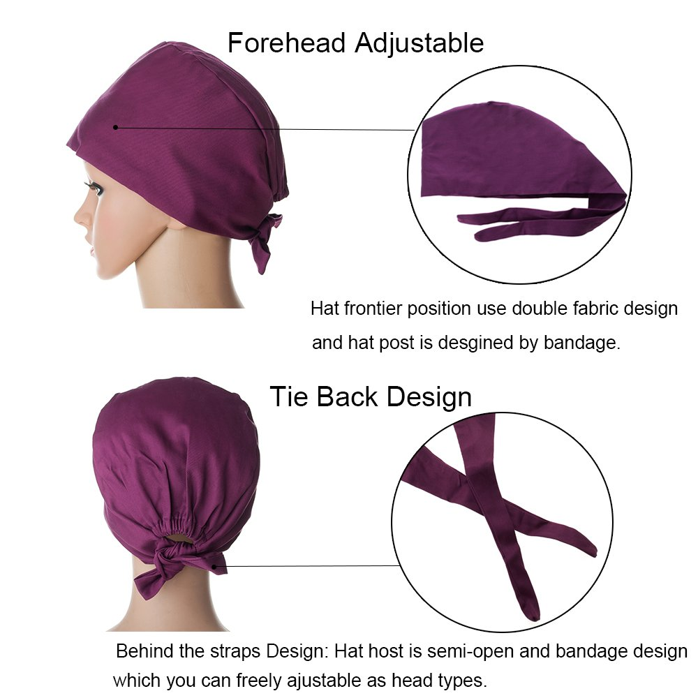 e46f6e69eb4 Opromo Womens and Mens Scrub Cap