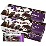 Biscolata Starz Tea Biscuit Cookies with Dark Chocolate - Pack of 12