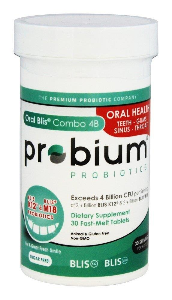 Oral Blis Combo 4B Fast Melt, 30 Tabs by Probium 850006004126