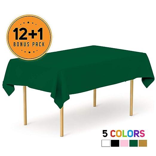 Mantel de plástico desechable para Fiestas, 54 x 108 Pulgadas ...