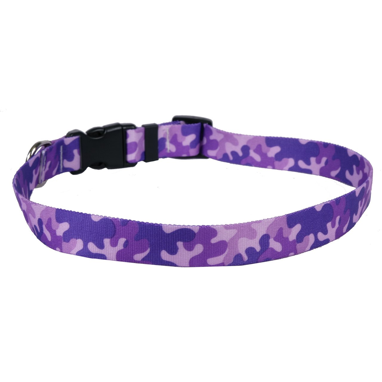 """Yellow Dog Design Camo Purple Dog Collar 3/8"""" Wide And durable service"""