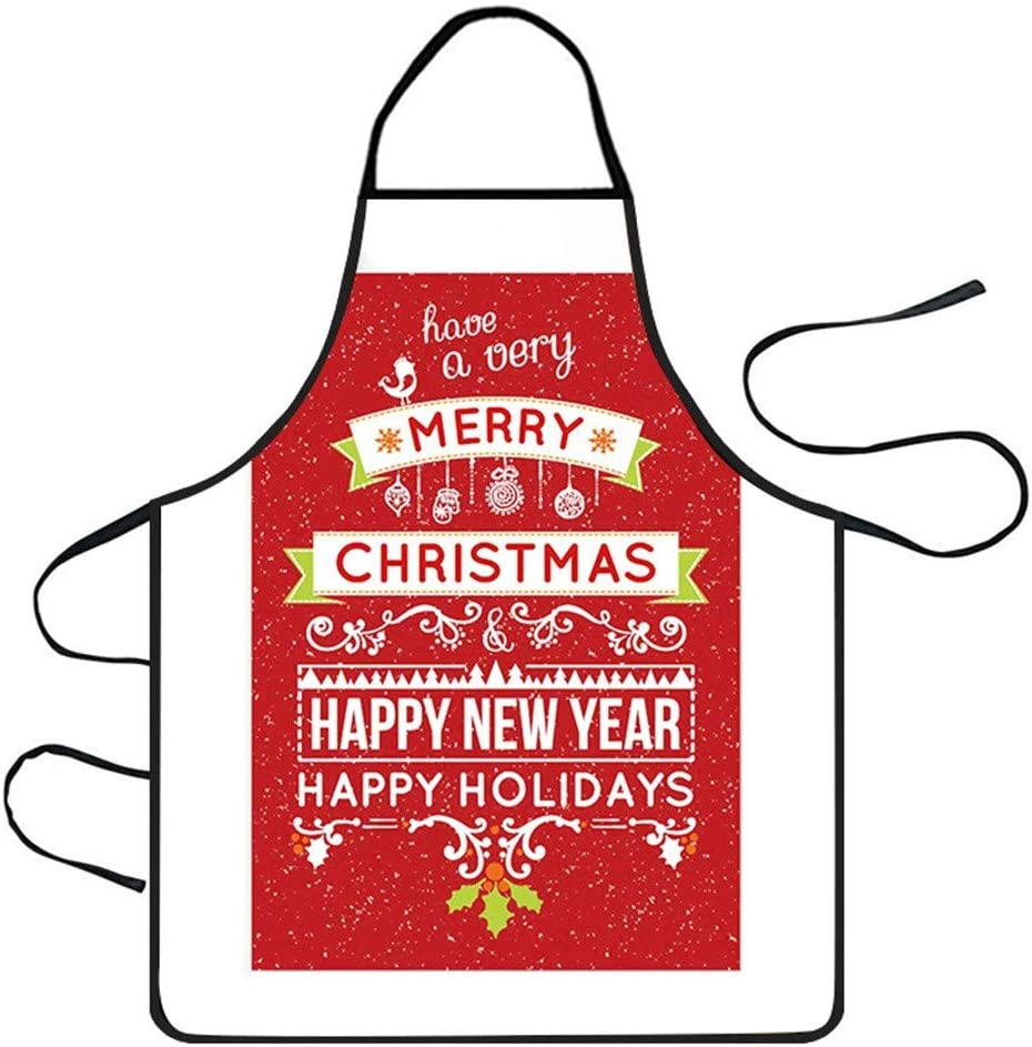 Christmas Decoration Waterproof Apron Kitchen Aprons Dinner Party Apron Chirpa Chirstmas Home Decorations