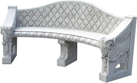 Banco de jardín de diseño antiguo, banco de jardín, banco de romero, banco de piedra: Amazon.es: Jardín