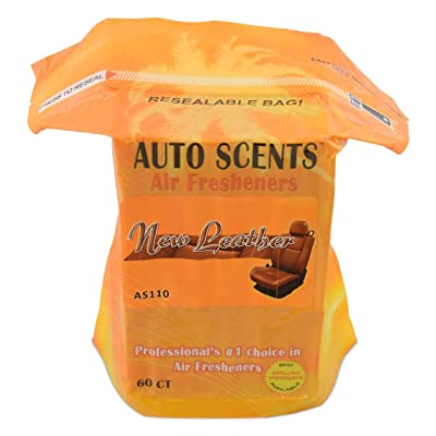 New Leather Scent Professional Air Freshener Pads - Remove The Worst Smells with These Heavy Duty Pads (60 Pads Per Pack) (New Leather Scent): Automotive