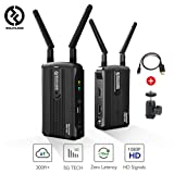 Hollyland Mars 300 5G Wireless HDMI Video Transmission System, Zero Latency Image Transmitter and Receiver Kit Support HD 1080P 60Hz 300 Feet for DSLR Mirrorless Camera Gimbal Stabilizer