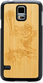 product image for CARVED Matte Black Natural Bamboo Wood Case for Samsung Galaxy S5 - Wild West (S5-BC1A-E-WWST)