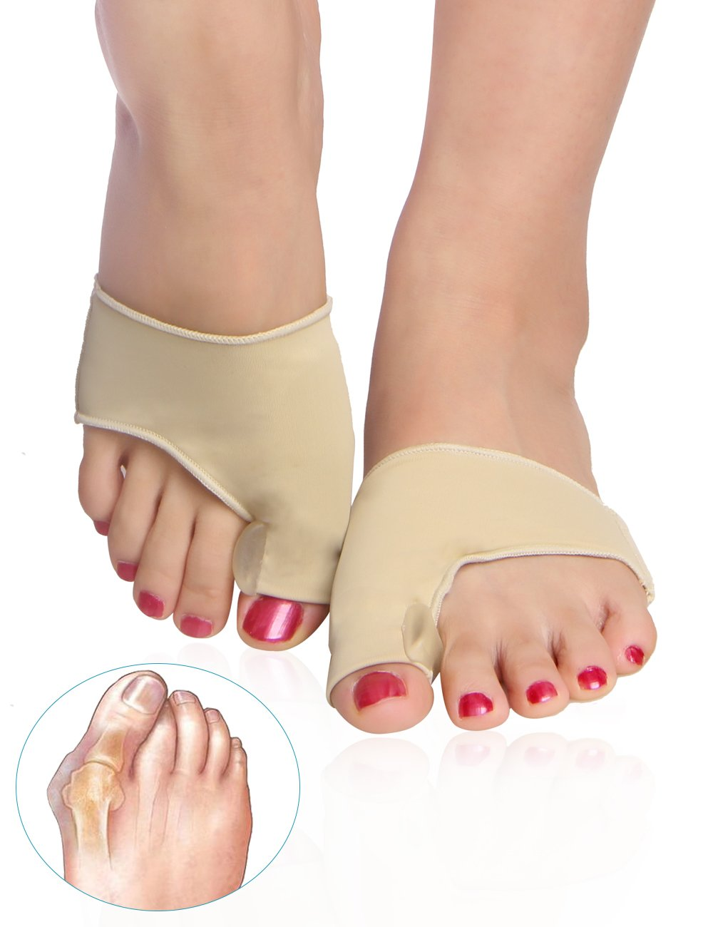 Bunion Corrector and Bunion Relief Protector Sleeves Kit with Gel Pad Treat Pain in Hallux Valgus, Big Toe Joint, Hammer Toe (Large Size : Women: US 9-13.5/Men: US 7-13.5)