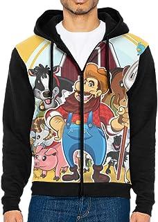 TZKDHCA Farm Life Zipper Hoodies Men Sweatshirts Pocket Autumn Winter Spring