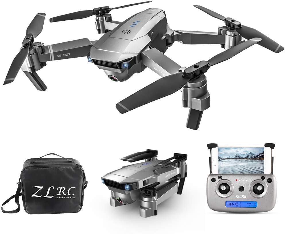 Leefly SG907 5G WiFi 4K RC Drone avec Double cam/éra GPS Interface de positionnement de Flux de Fluide MV Suivez-Moi Geste Photos Vid/éo RC Quadricopt/ère