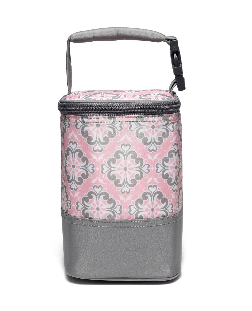 LCY Baby Feeding Insulated Bottle Bag Cooler Bag Keep Warm or Cool with Hanging Strap Fit Up 4 Bottles-Flowers Pink by LCY
