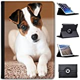 Leather Case for Apple iPad Mini, iPad Mini 2, iPad Mini 3 - Jack Russell Terrier Puppy