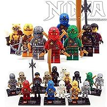 ABG Toys 16 Minifigures NINJAGO Kai Thunder Swordsman Series Building Blocks Sets Toy