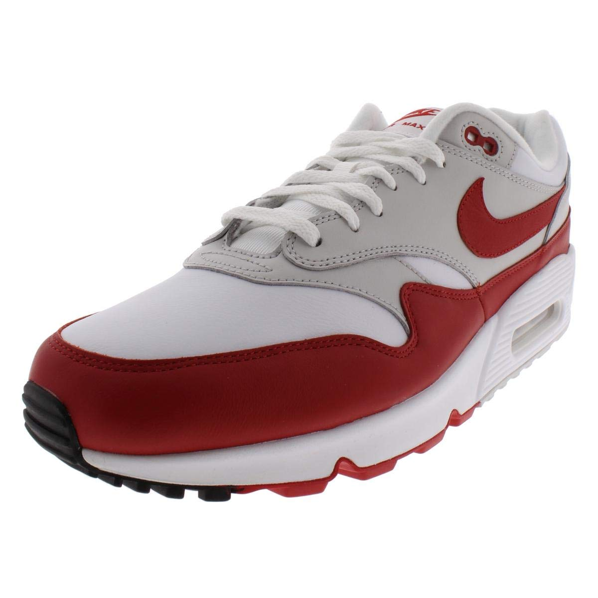 new images of ever popular sneakers Nike Air Max 90/1 White/University Red AJ7695 100 (6 D(M) US)
