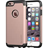 iPhone 6s Case, LUVVITT [Ultra Armor] Shock Absorbing Case Best Heavy Duty Dual Layer Tough Cover for Apple iPhone 6/iPhone 6s - Black/Rose Gold