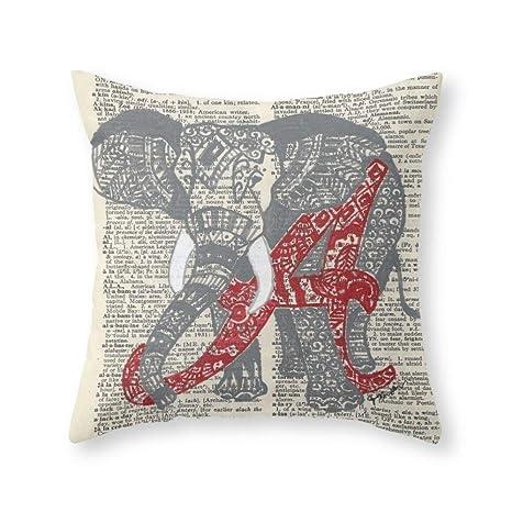 ZiJface Roll Tide (Alabama Elephant) Throw Pillow Pillow ...