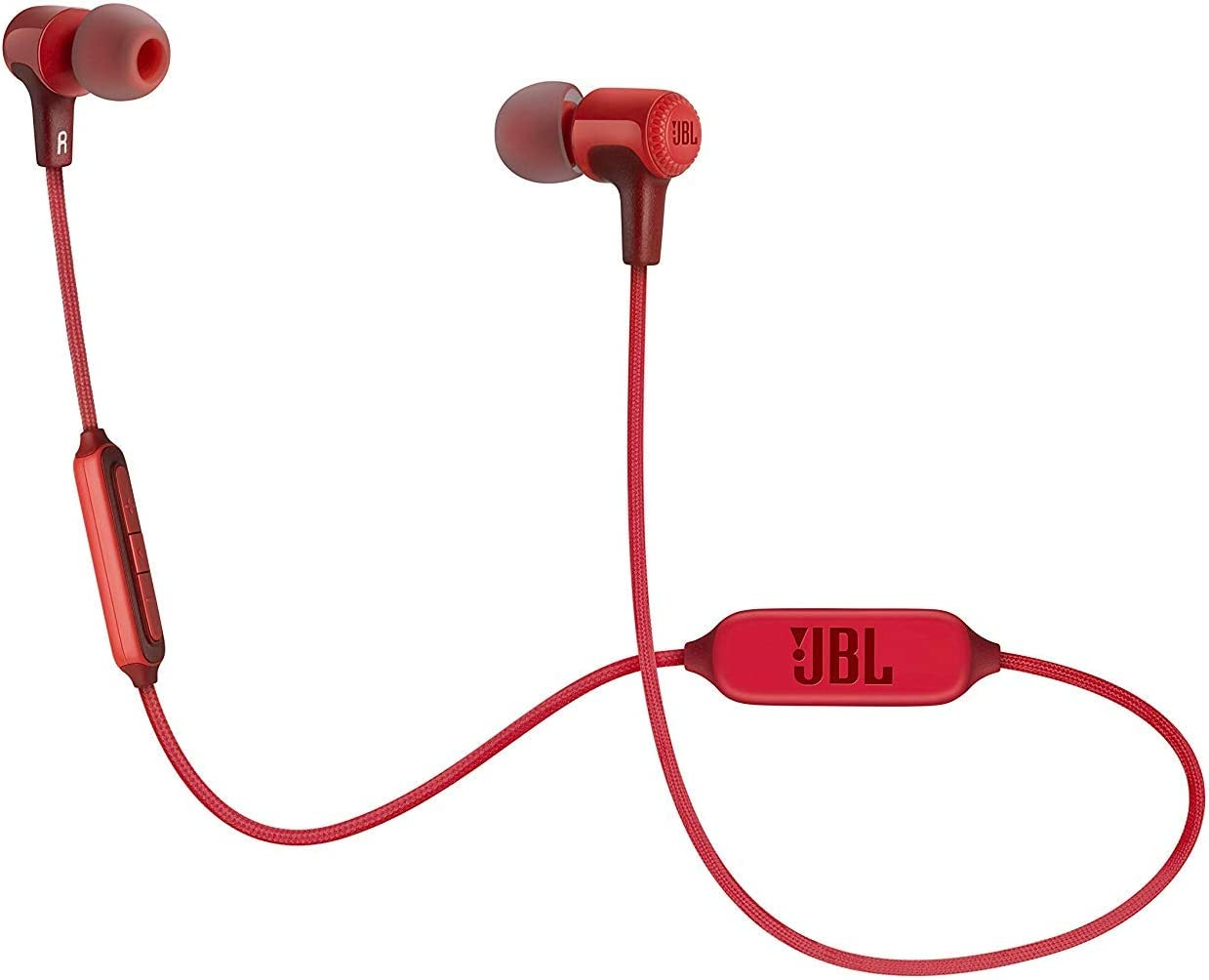 JBL E25BT Signature Sound Wireless in-Ear Headphones with Mic (Red)