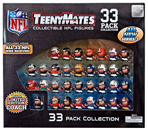 Teeny Mates NFL Collectible Gift Set - Series 3 (33 Pack) by TeenyMates