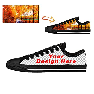 Vangona Personalized Image or Text Women s Canvas Sneaker Low-Tops Add Your  Own Custom Photo 68a53d1b21