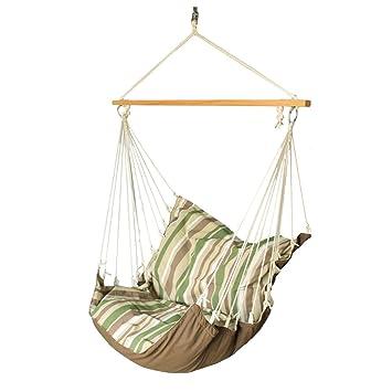 Slack Jack Cushion Fabric Swing (Brown, Green and White)