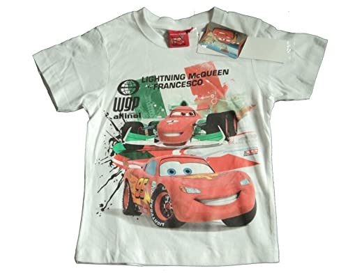 Boys Disney Pixar Cars Lightning McQueen T shirt yellow 55683658f