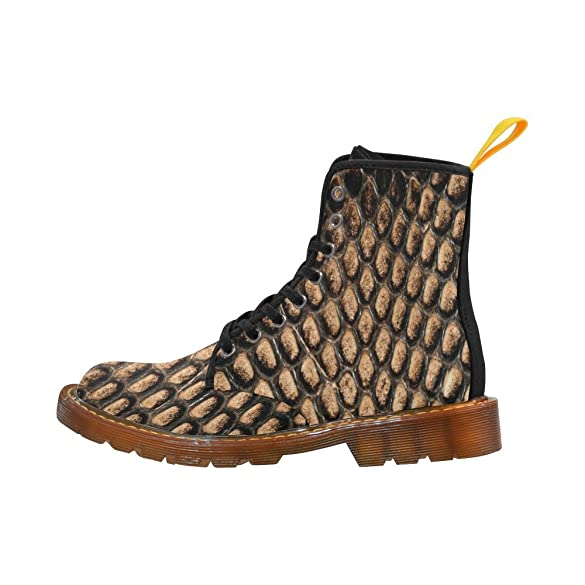 Shoes Animal Snake Skin Lace Up Martin Boots For Women