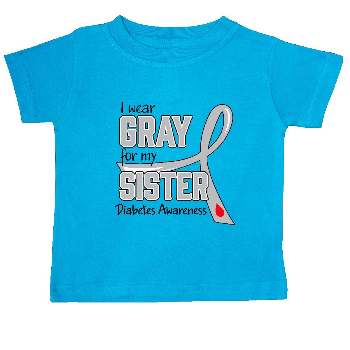 Diabetes Awareness Baby T-Shirt inktastic I Wear Gray for My Sister