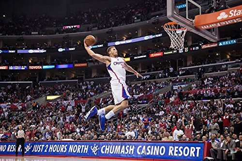 Blake Griffin Slam Dunk La Clippers Basketball Poster Art Print B