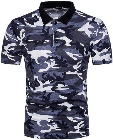 Polo Camisa De Polo De Camuflaje Camuflaje De Camisa Verano para ...