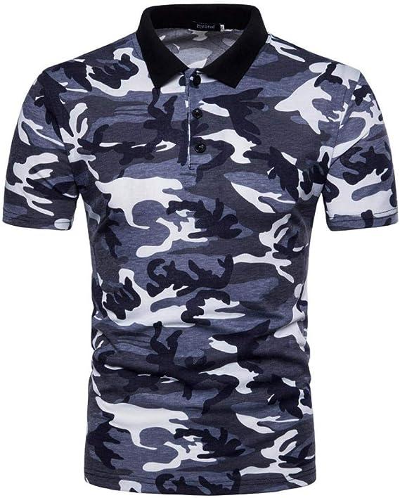 Polo Camisa De Polo De Camuflaje Camuflaje Camisa De Verano Ropa ...