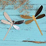 ufengke® 12-Pcs 3D Dragonflies Wall Stickers Fashion Design DIY Colorful Dragonfly Art Decals Crafts Home Decoration, Mirror