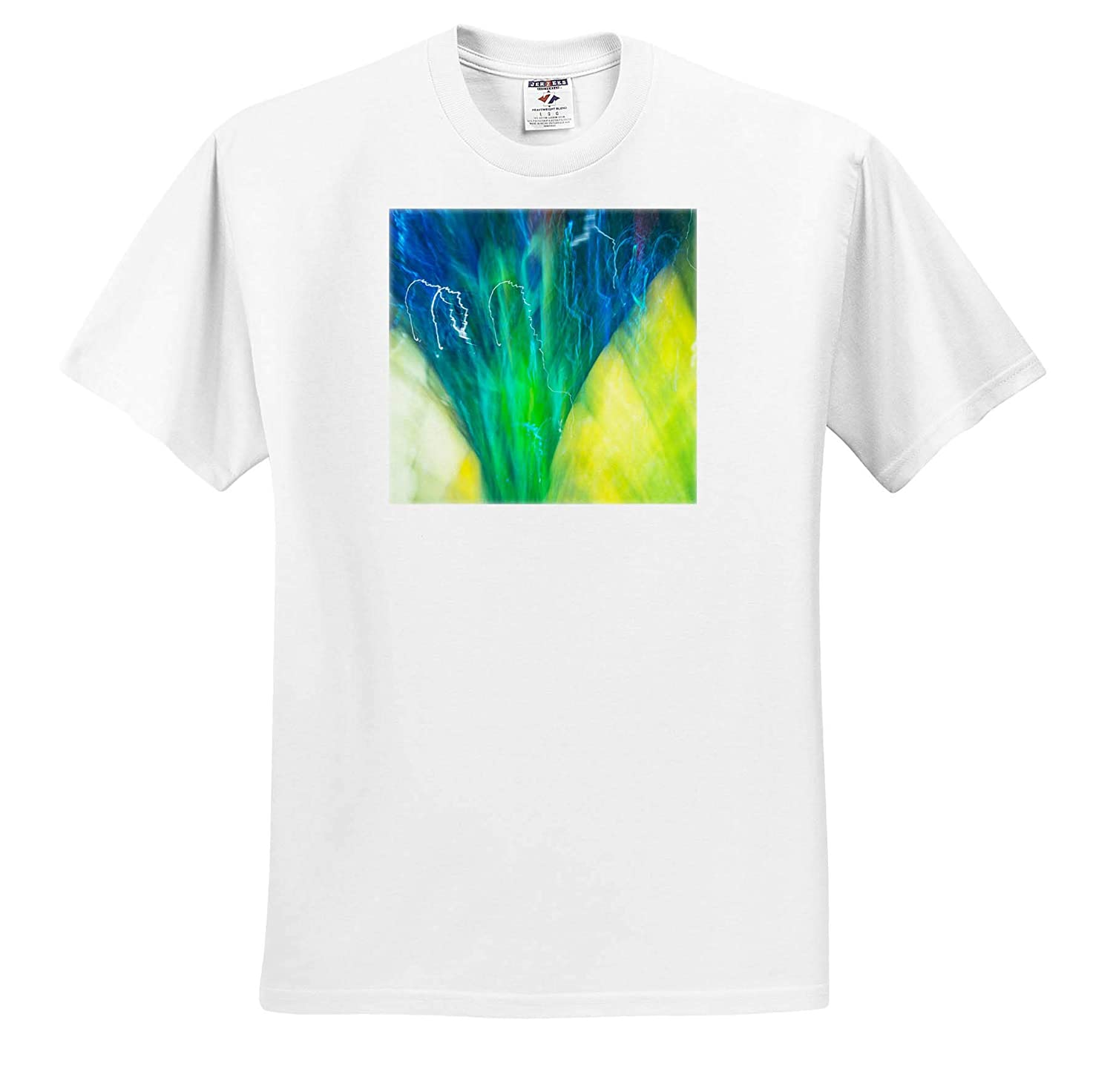 3dRose Danita Delimont ts/_315185 Colorful Glass with Motion Blur Effect Adult T-Shirt XL Abstracts