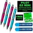 Pilot G2 Mini 0.7mm Mechanical Pencil, 7-piece Set
