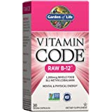 Garden of Life Vitamin B12 - Vitamin Code Raw B12 Whole Food Supplement, 1000 mcg, Vegan, 30 Capsules *Packaging May…