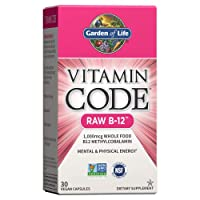 Garden of Life Vitamin B12 - Vitamin Code Raw B12 Whole Food Supplement, 1000 mcg...